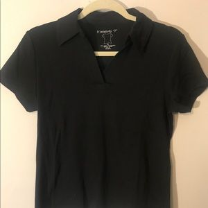 Relativity Tops - 2 for one black collar tees